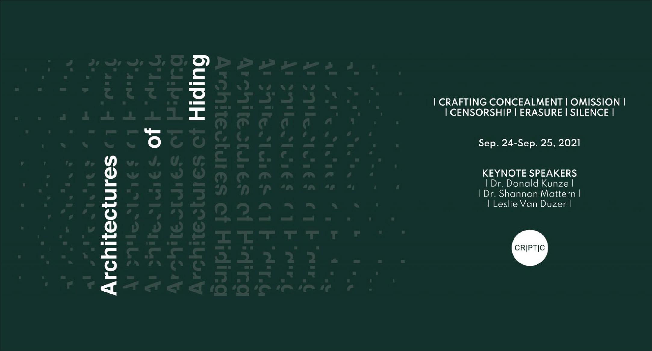Architecture of Hiding Symposium